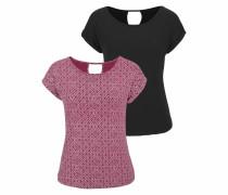 T-Shirt eosin / schwarz