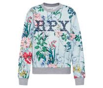 Sweatshirt hellblau / mischfarben
