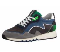 Schnürschuhe blau / taupe / grün