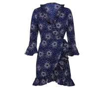 Kleid 'Bethany Floral' nachtblau / weiß
