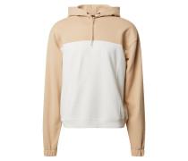 Sweatshirt weiß / beige