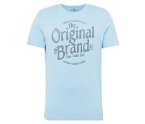 T-Shirt 'summer print tee' hellblau