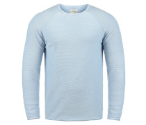 Rundhalspullover 'Oddone' blau / hellblau