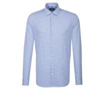 City-Hemd 'Tailored' blau / weiß