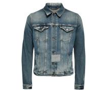 Derbe Jeansjacke blau
