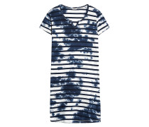 Nachthemd 'Cindy Cas' blau / weiß