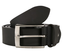 Gürtel aus mattem Leder 3.5cm schwarz