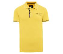 Piquee Poloshirt mit Logo Design gelb