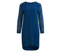 Schlichtes Kleid blaumeliert