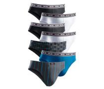 Slip (7 Stck.) blau / schwarz / weiß