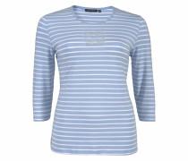 3/4-Arm-Shirt hellblau / weiß