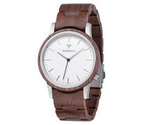 Uhr 'Walter' braun / silber / weiß