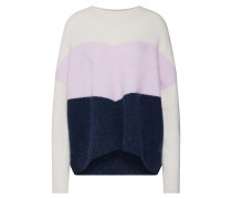 Pullover 'Herle' navy / lila / weiß