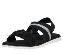 Sandale 'Joleen' schwarz / silber