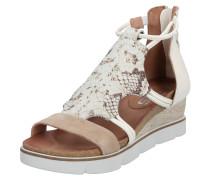 Sandale 'tapasita' beige / weiß