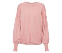 Pullover mit Ballonärmeln rosa