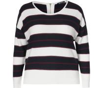 Pullover kirschrot / schwarz / weiß