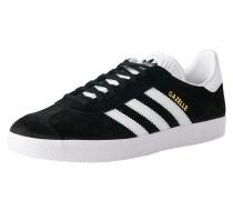 Sneaker 'gazelle' schwarz / weiß