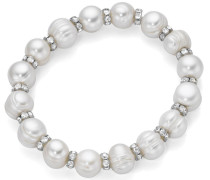 Perlenarmband silber