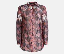 Bluse rosé / burgunder
