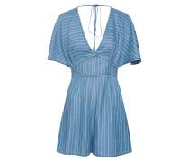 Overall 'mia Romper' blue denim / weiß