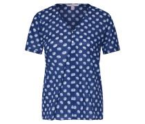 Bluse 'Popeline' navy / mischfarben