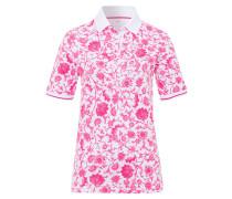 Poloshirt 'Cleo' dunkelpink / weiß