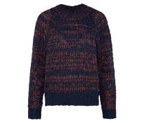 Grobstrick Pullover dunkelblau / bronze