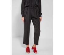 Taillierte High Waist Hose schwarz / weiß