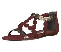 Sandalen bordeaux / silber