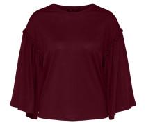 Sweatshirt mit Trompetenarm burgunder