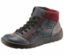 Stiefeletten blau / taupe / rot