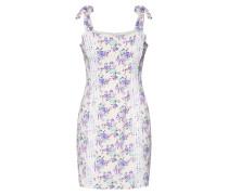 Kleid lavendel / weiß
