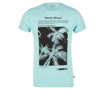 T-Shirt hellblau / schwarz