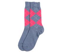 Socken 'Neon Queen' grau / magenta