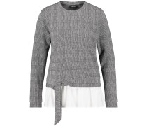 Pullover grau / weiß