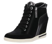 Sneaker-Wedge schwarz