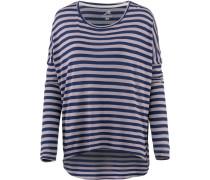 Oversizelangarmshirt grau / violettblau