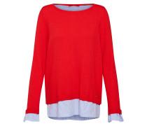 Pullover hellblau / rot