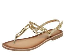 Sandale mit Zehensteg platin