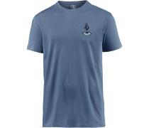 'burch Eye' T-Shirt taubenblau