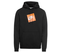 Sweatshirt orange / schwarz / weiß