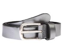 Beschichteter Gürtel 'Metallic' silber