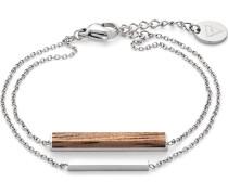 Armband 'Walnut' braun / silber