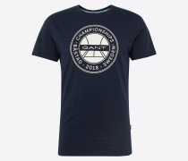 T-Shirt 'Bastad' navy / weiß