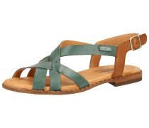 Sandalen petrol / braun