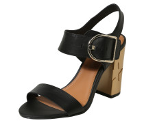 Sandalette gold / schwarz