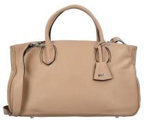 Handtasche Leder 39 cm beige