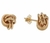 Paar Ohrstecker 'Knoten' gold