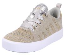 Sneaker mit Glitzereffekt gold